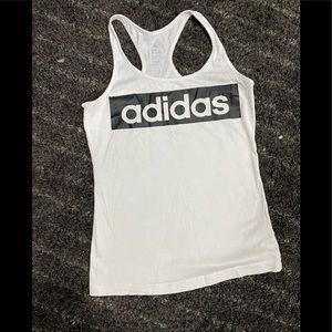 Adidas Black and White racerback tank
